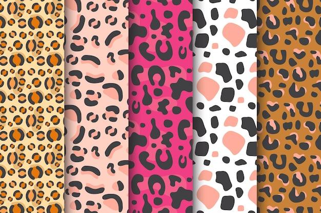 Modern animal print pattern set