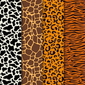 Modern animal print pattern set