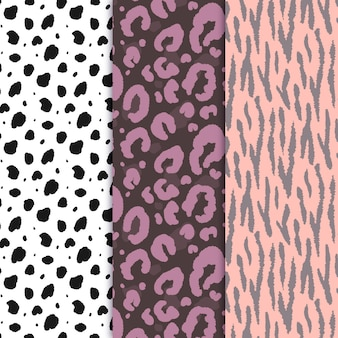 Modern animal skin patterns pack