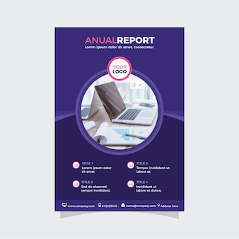 Modern annual report in abstract design
