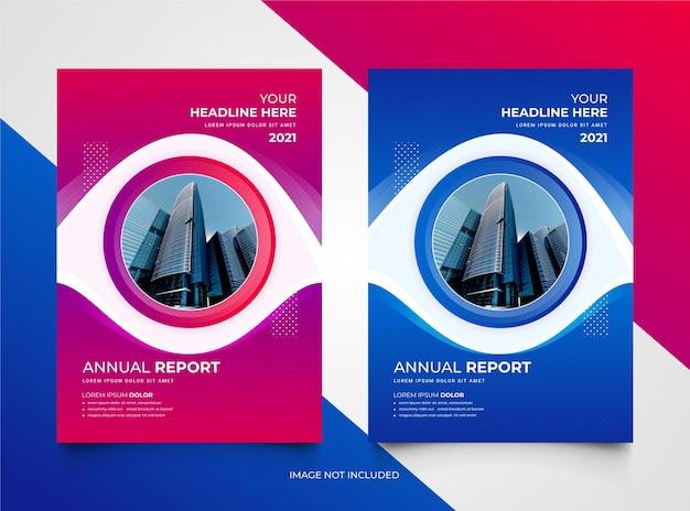 Modern annual report brochure template set