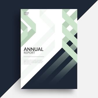 現代の年次報告書企業の本の表紙のレイアウトデザイン