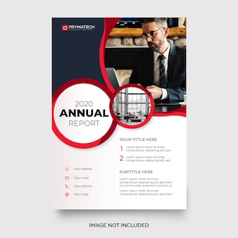 Modern annual report template with abstract circles