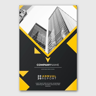 Modern annual report template with photo