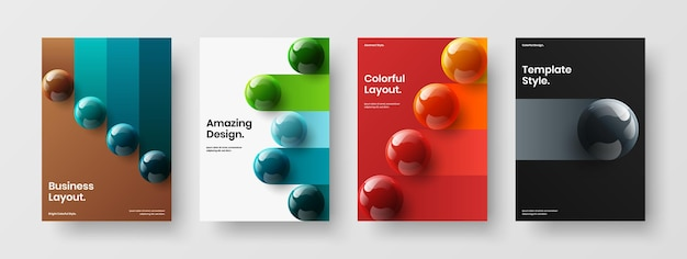 Modern annual report vector design layout collection