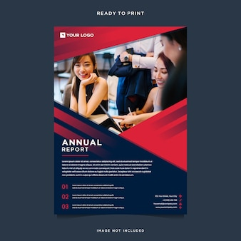 Modern annual report with photo