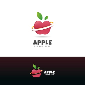 Modern apple logo design template