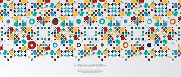Modern arabesque hexagonal classic pattern background template