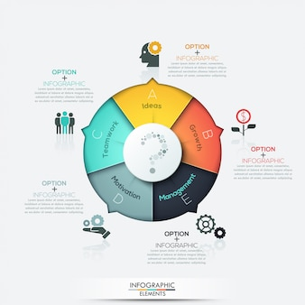 Modern arrow business infographics elements
