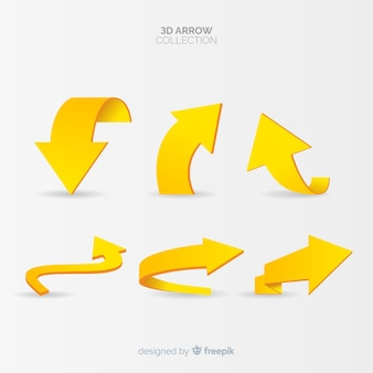 Modern arrow collection with 3d style