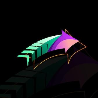 Modern arrow colorful design vector