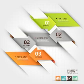 Modern arrow infographics template.