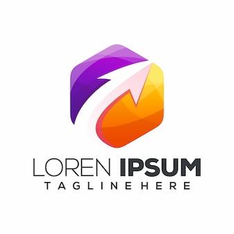Modern arrow logo or logotype template