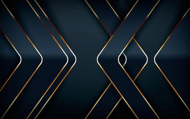 Modern arrow shape with light golden line