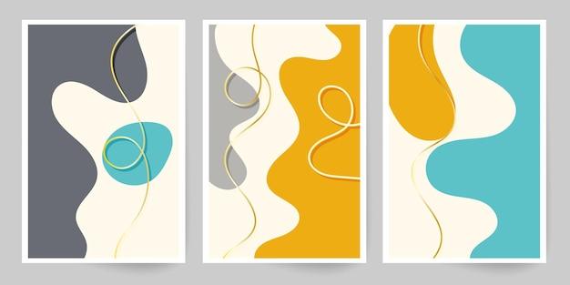 現代美術。抽象的な表紙のテンプレート。
