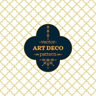 Modern art deco pattern