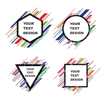 テキストデザインテンプレートのための現代アート