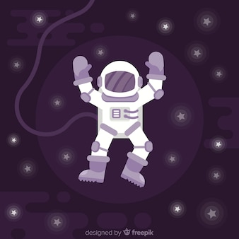 Modern astronaut character with flat design