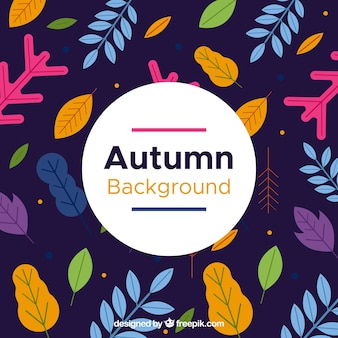 Modern autumn background with flat design