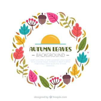 Modern autumn background with flat design