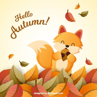 Modern autumn background