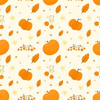 Modern autumn fruit pattern