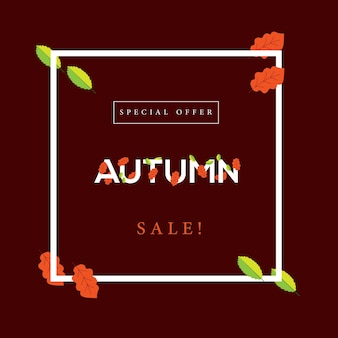 Modern autumn sale! design