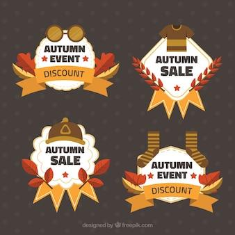 Modern autumn sale label collection