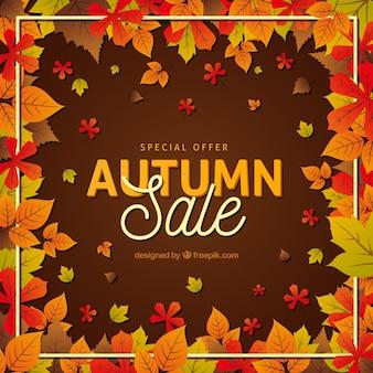 Modern autumnal sale composition