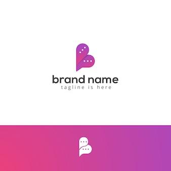 Modern b letter chat logo