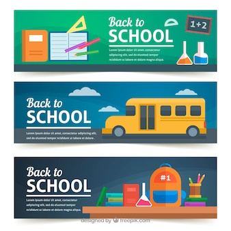 Modern back to school banners