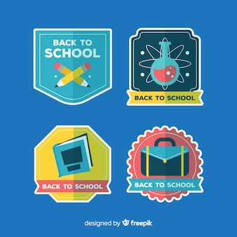 Modern back to school label collection