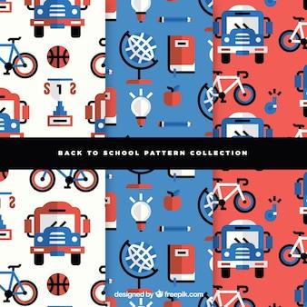 Collezione di modelli moderni per il ritorno a scuola
