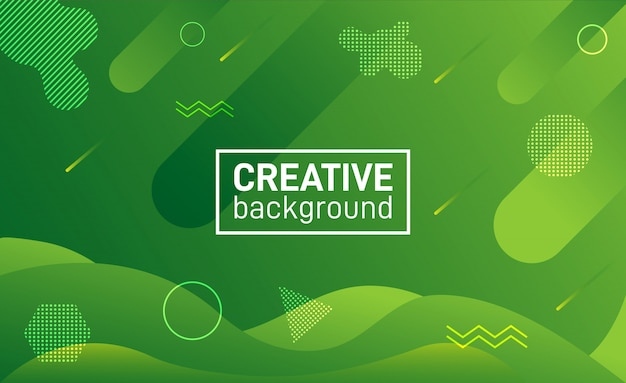 Modern background abstract shapes green
