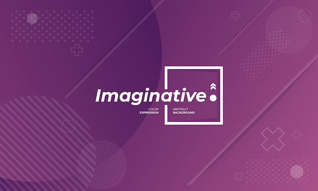 Modern background banners with imaginative expressions in violet