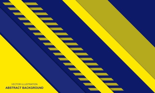 현대 배경 파란색과 노란색 색상