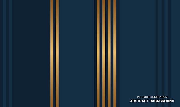 Modern background blue and golden luxury design