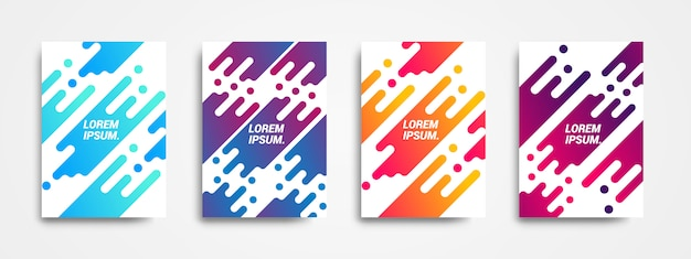 Modern background design with dynamic shape and colorful gradients.