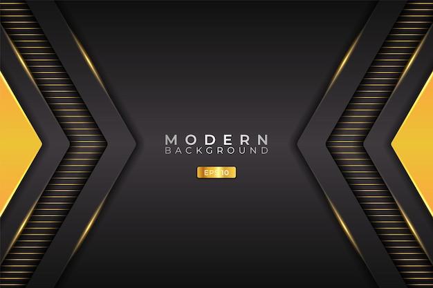 Modern background futuristic technology 3d realistic arrow glowing yellow