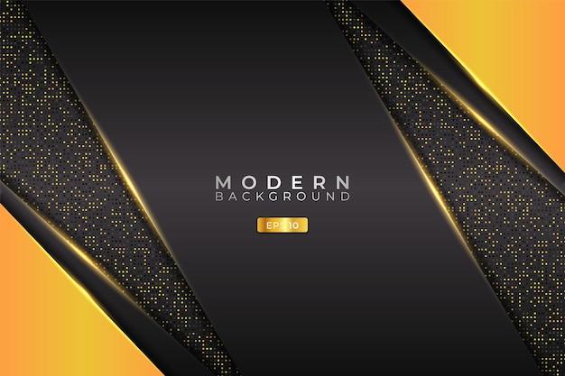 Modern background futuristic technology diagonal glowing yellow with glitter