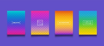 Modern Background Gradient Color Template Set Collection