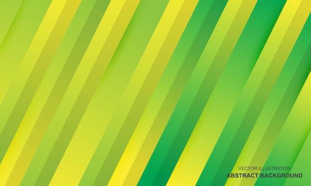 モダンな背景緑と黄色のカラフル