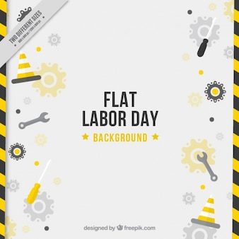 Modern background of labor day with tools