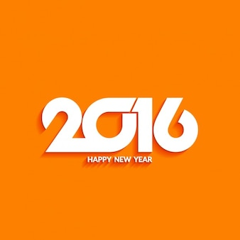 Modern background of new year on orange color