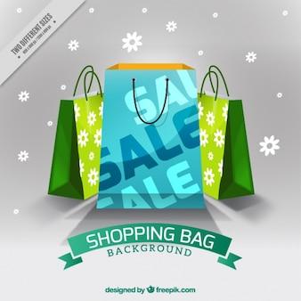 Современный фон продажи сумок
