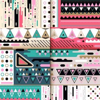 Современный фоновый узор с красочными геометрическими элементами