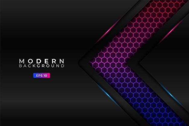 Modern background premium arrow with elegant hexagon gradient blue pink pattern