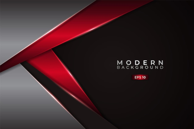 Modern background premium diagonal overlapped with metallic glowing red and silver
