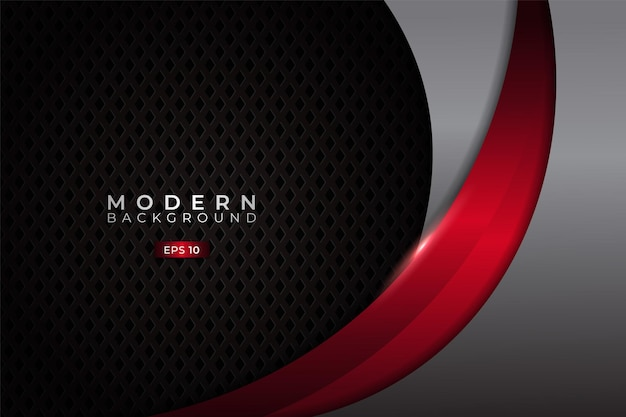 Modern background premium dynamic overlapped with elegant metallic glowing red and silver