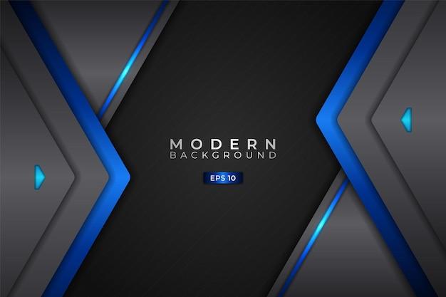 Modern background realistic 3d futuristic technology blue with hexagon metallic